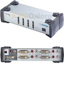 ATEN DVI video přepínač 4 PC - 1 DVI monitor+4xcin
