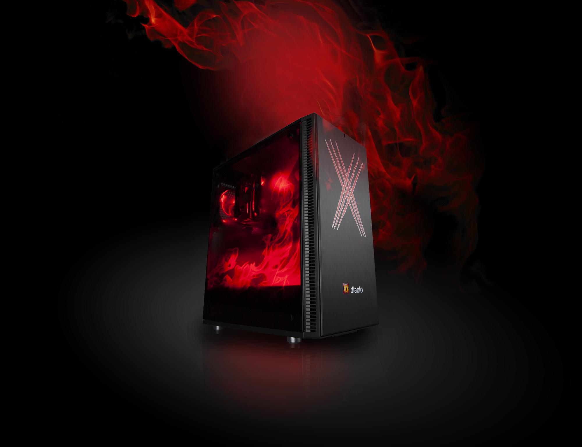 X-DIABLO Gamer X56 3060 (R5 5600X/16GB/SSD 1000GB NVME/RTX3060/W10/Wifi/LED/KB+M)
