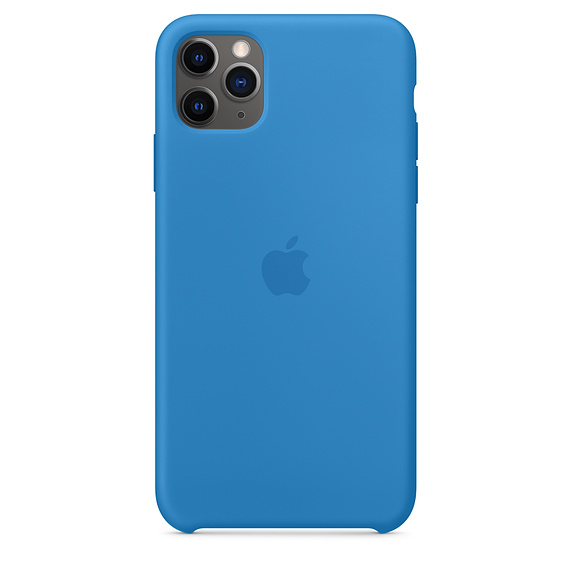 iPhone 11 Pro Max Silicone Case - Surf Blue