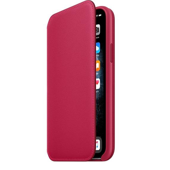 iPhone 11 Pro Max Leather Folio - Raspberry