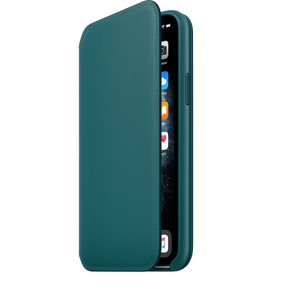 iPhone 11 Pro Max Leather Folio - Peacock