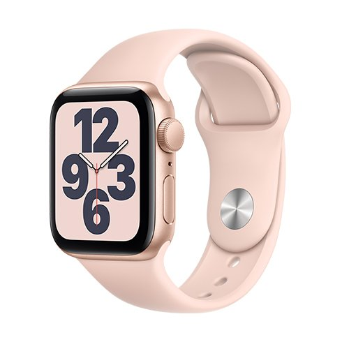 Watch SE, 44mm, Gold/Pink Sand SportB