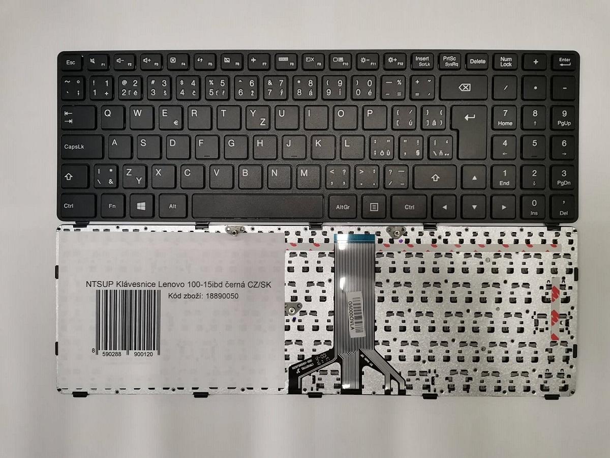 NTSUP Klávesnice Lenovo 100-15ibd černá CZ/SK