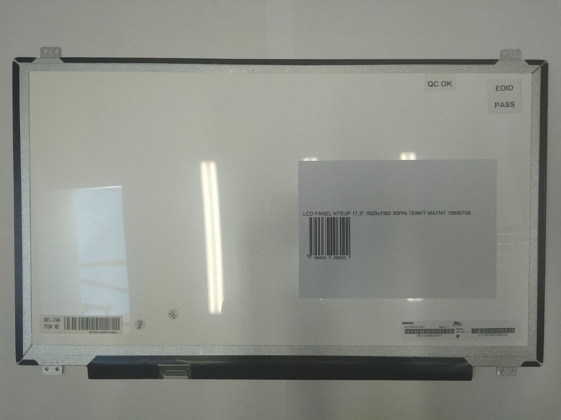 LCD PANEL NTSUP IPS 17,3