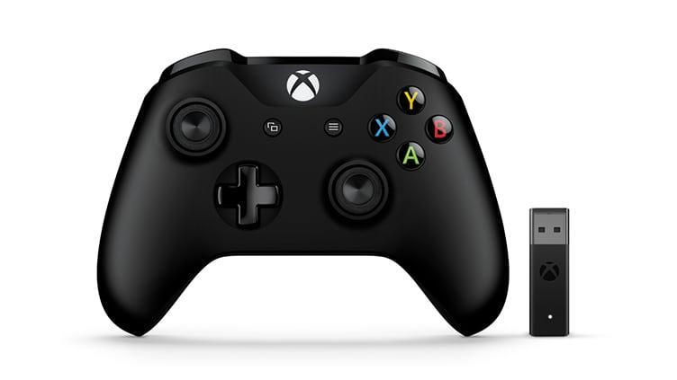 Microsoft Xbox One Gamepad + bezdrátový adaptér pro Windows 10 (v2)
