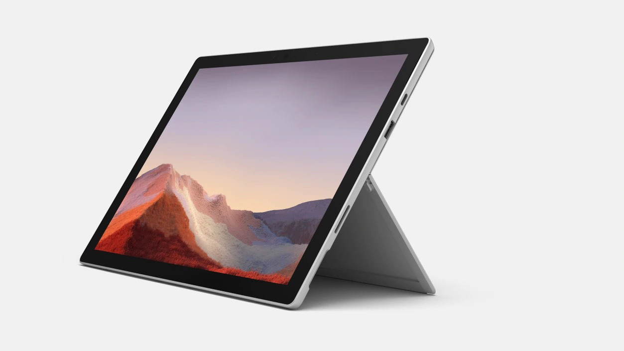 Microsoft Surface Pro 7+ - i5-1135G7 / 16GB / 256GB/ LTE, Platinum; Commercial
