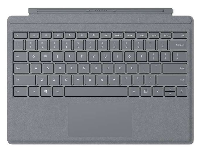 Microsoft Surface Go Type Cover (Platinum), Commercial, ENG