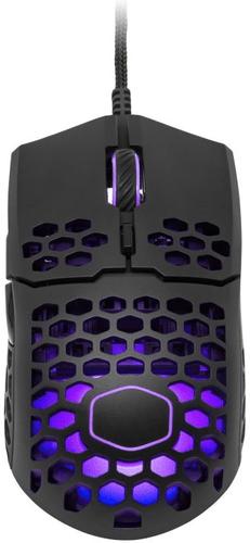 COOLER MASTER herní myš LightMouse MM711, 400-16000DPI, RGB podsvícení, matná černá