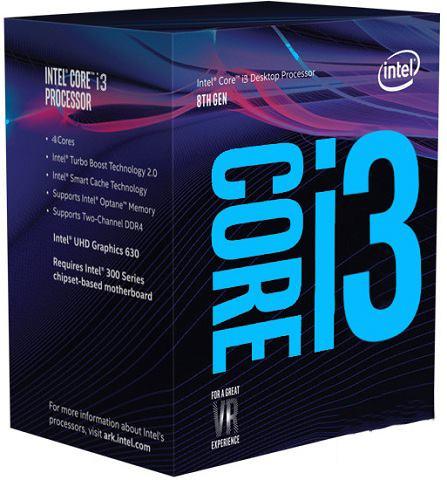 CPU Intel Core i3-8100 BOX (3.6GHz, LGA1151, VGA)