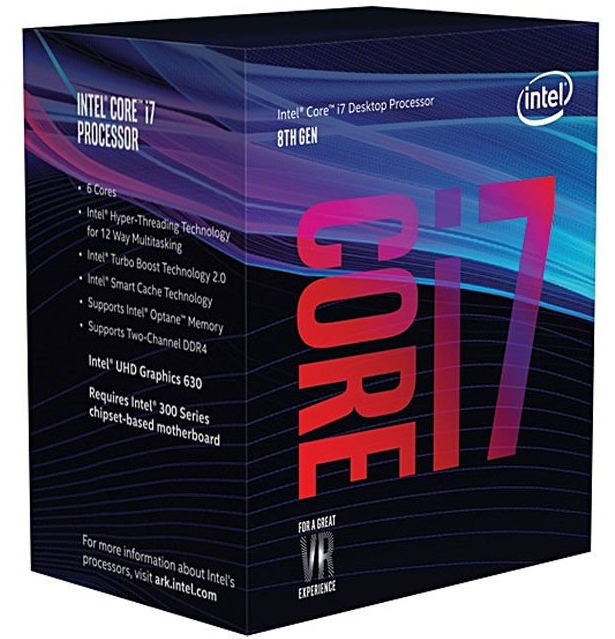 CPU Intel Core i7-8700 BOX (3.2GHz, LGA1151, VGA)