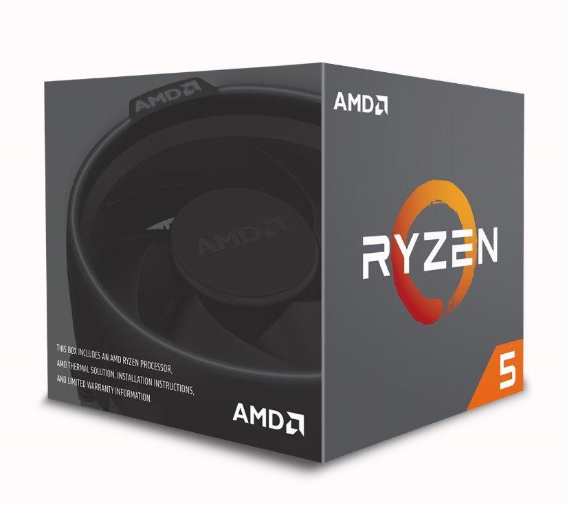 CPU AMD RYZEN 5 2600, 6-core, 3.4 GHz (3.8 GHz Turbo), 19MB cache, 65W, socket AM4, BOX (Wraith cooler)