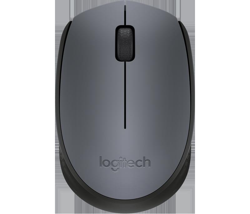 myš Logitech Wireless Mouse M170, šedá
