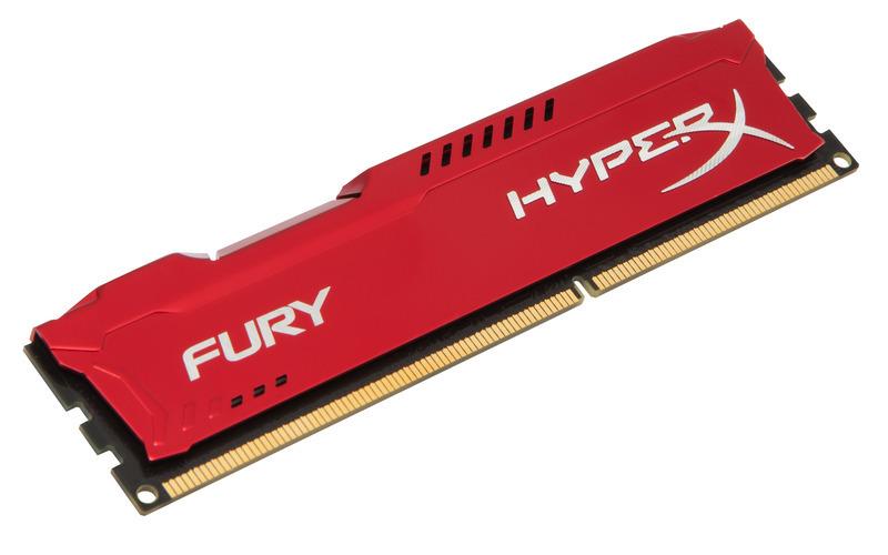 8GB DDR3-1600MHz Kingston HyperX Fury Red
