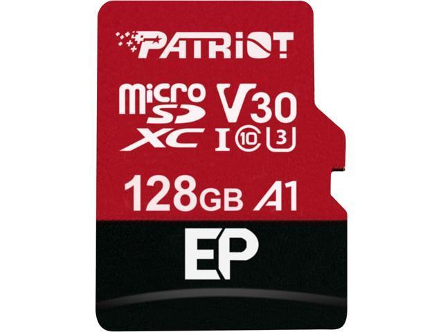 128GB microSDXC Patriot V30 A1, class 10 U3 100/80MB/s + adapter