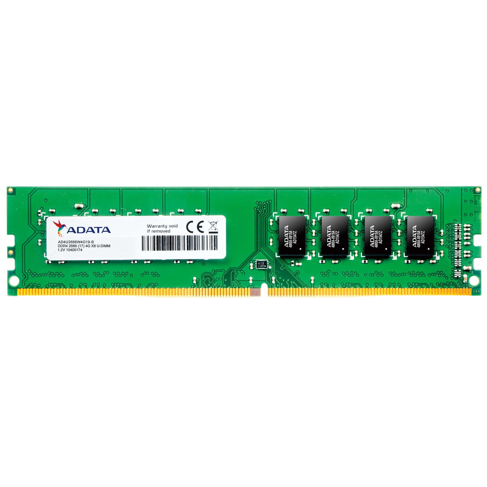 DIMM DDR4 4GB 2666MHz CL19 ADATA Premier, 512x16, Retail