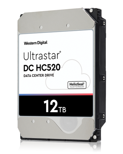 Western Digital Ultrastar® HDD 12TB (HUH721212ALE604) DC HC520 3.5in 26.1MM 256MB 7200RPM SATA 512E SE (GOLD WD121KRYZ)