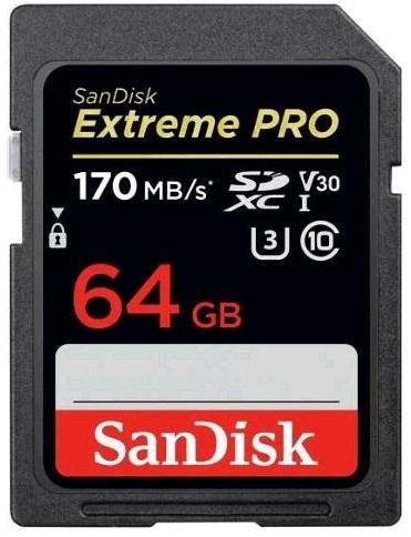 SanDisk Extreme Pro SDXC 64GB 170MB/s V30 UHS-I