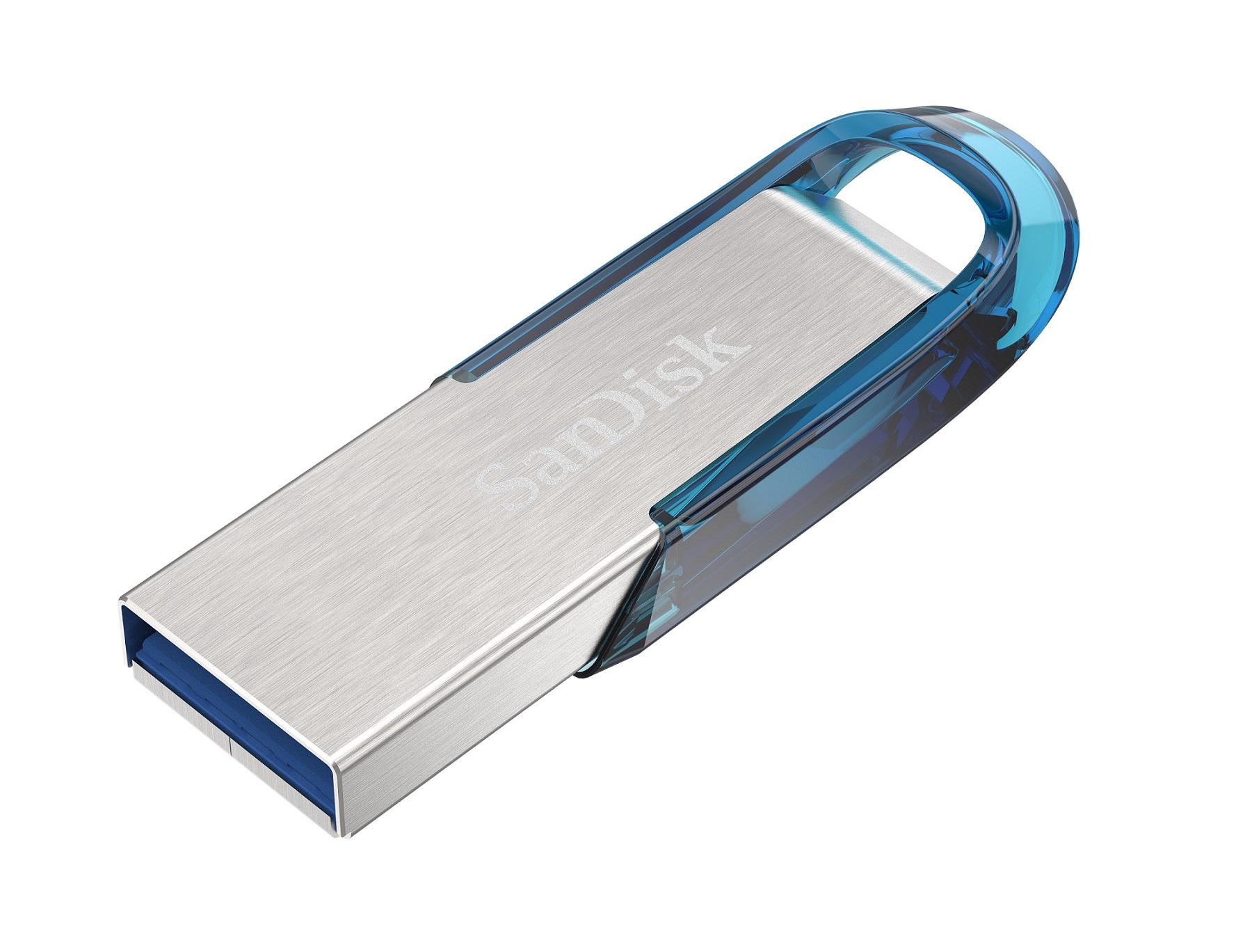 SanDisk Ultra Flair 64GB USB 3.0 tropická modrá