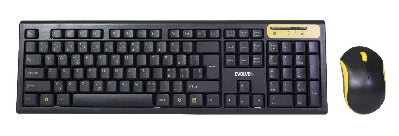 EVOLVEO WK-160, set bezdr. klávesnice a myši