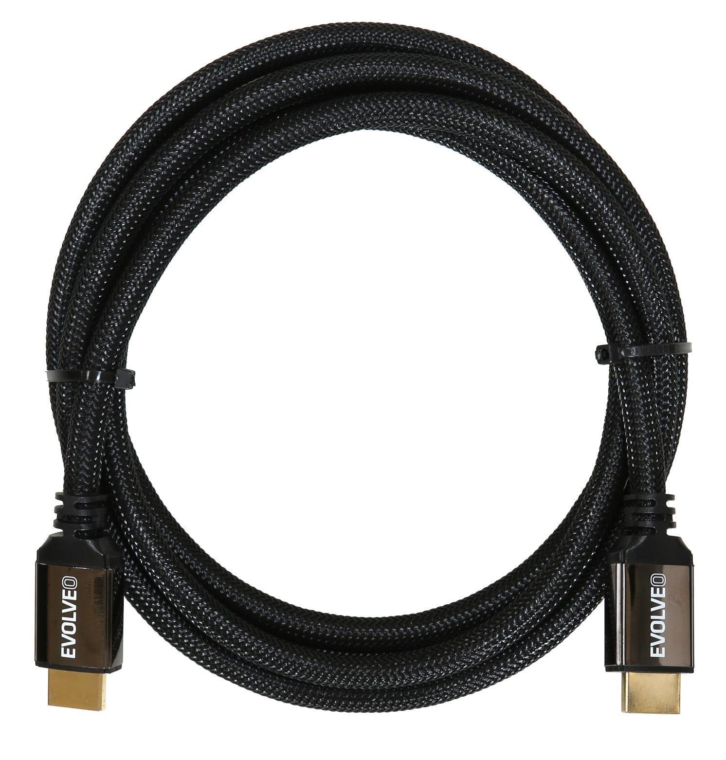 EVOLVEO XXtremeCord, kabel HDMI 2.1, délka 1 metr, podpora 8K ULTRA HD, 4K, 2K a FHD, 48Gbps š. pás.