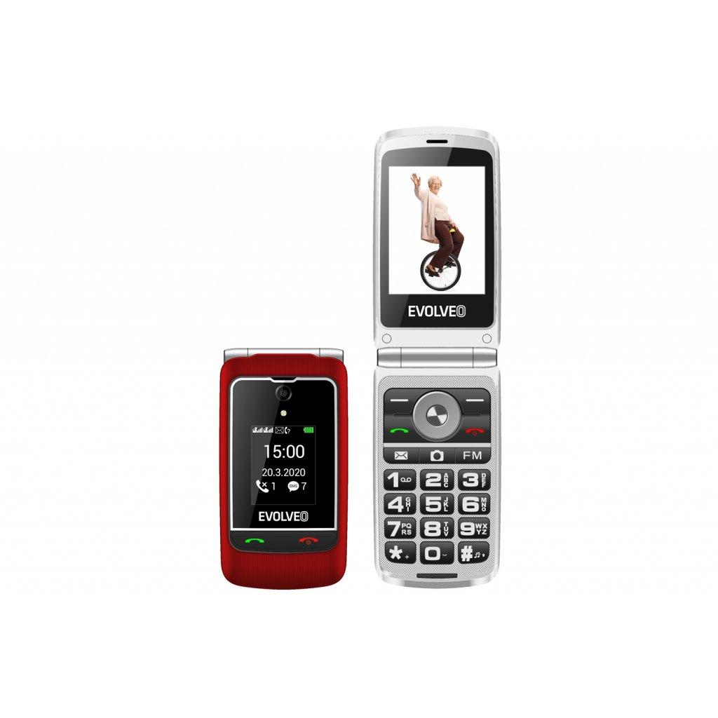 EVOLVEO EasyPhone FG, vyklápěcí mobilní telefon 2,8