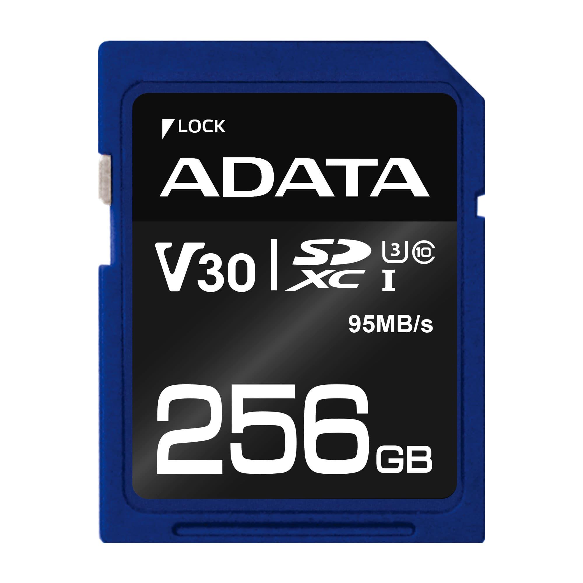 ADATA SDXC 256GB UHS-I U3 V30S 95/60MB/s