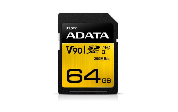 ADATA SDXC 64GB UHS-II U3 (290/260MB)