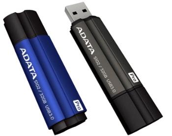 32GB USB 3.0 ADATA S102 Pro šedá (90/25MB/s)
