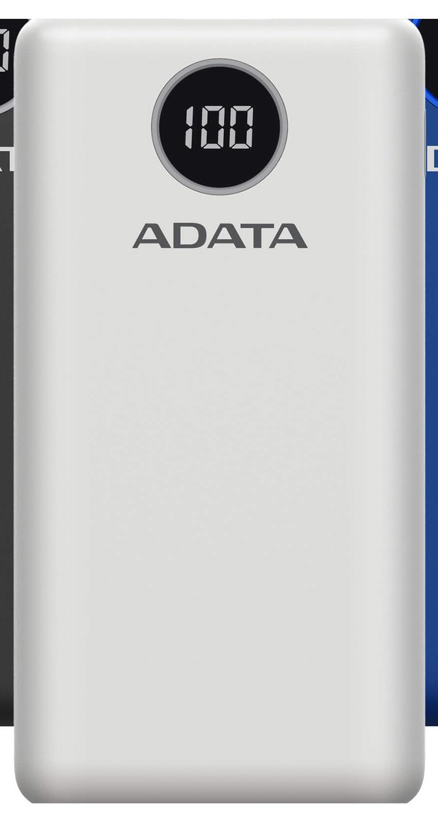 ADATA P20000QCD Power Bank 20000mAh bílá