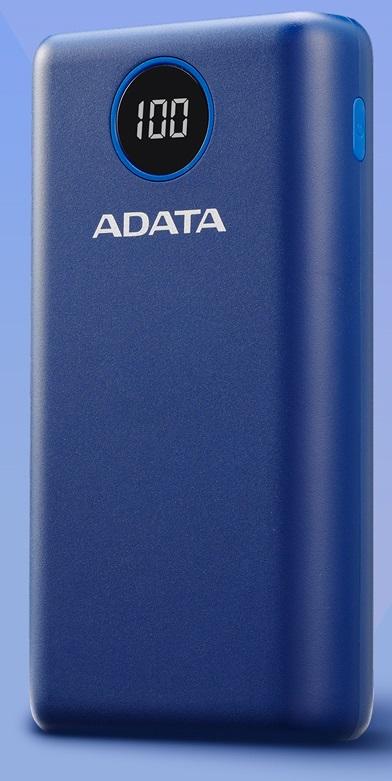 ADATA P20000QCD Power Bank 20000mAh modrá