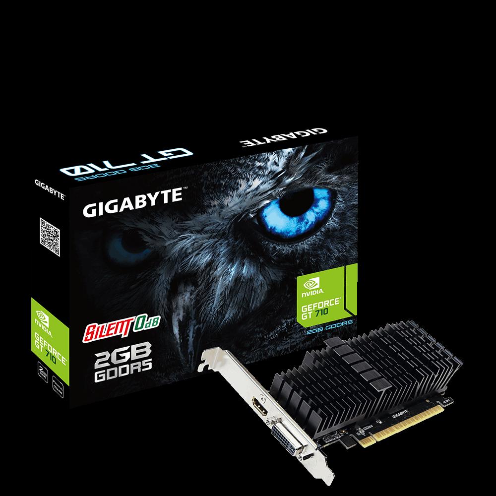 GIGABYTE VGA NVIDIA GeForce GT 710, 2GB DDR5, 1xHDMI, 1xDVI-I, passive