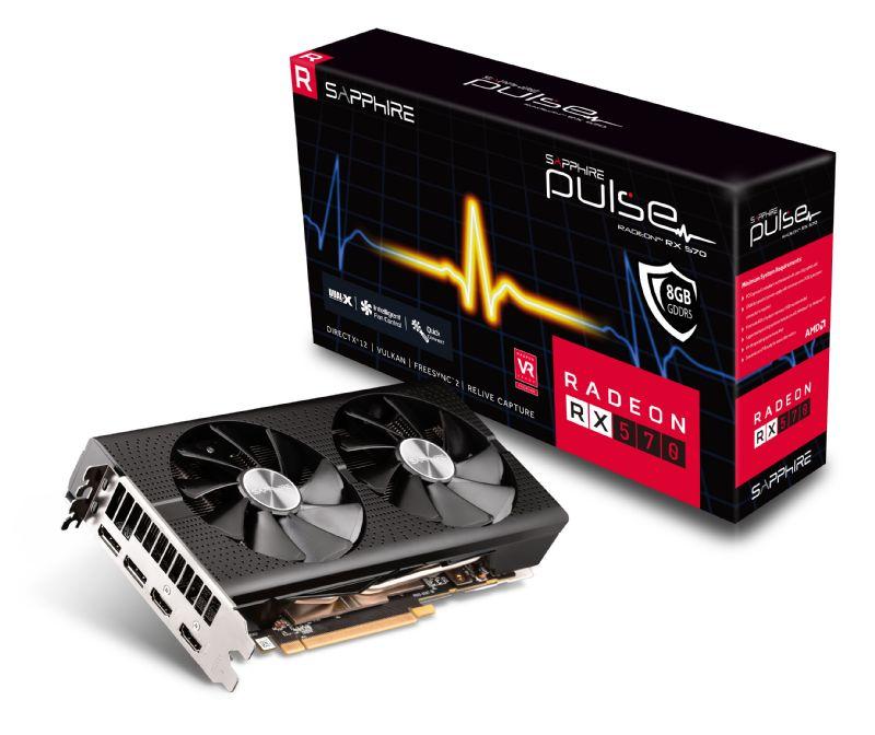 Sapphire PULSE RX570 8GB (256) aktiv 2xH 2xDP OC