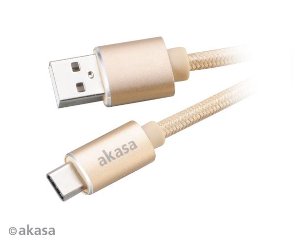 AKASA - USB 2.0 typ C na typ A kabel - 1 m