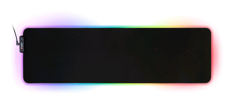 C-TECH herní podložka pod myš  ANTHEA LED XL (GMP-08XL), pro gaming, 7 barev podsvícení, USB