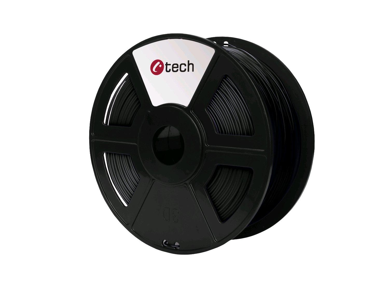 Tisková struna (filament) C-TECH, PLA, 1,75mm, 1kg, černá