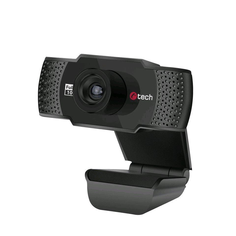 Webkamera C-TECH CAM-11FHD, 1080P, mikrofon, černá