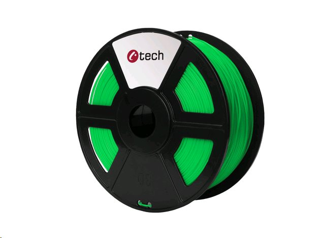 PLA FLUORESCENT GREEN zelená C-TECH, 1,75mm, 1kg