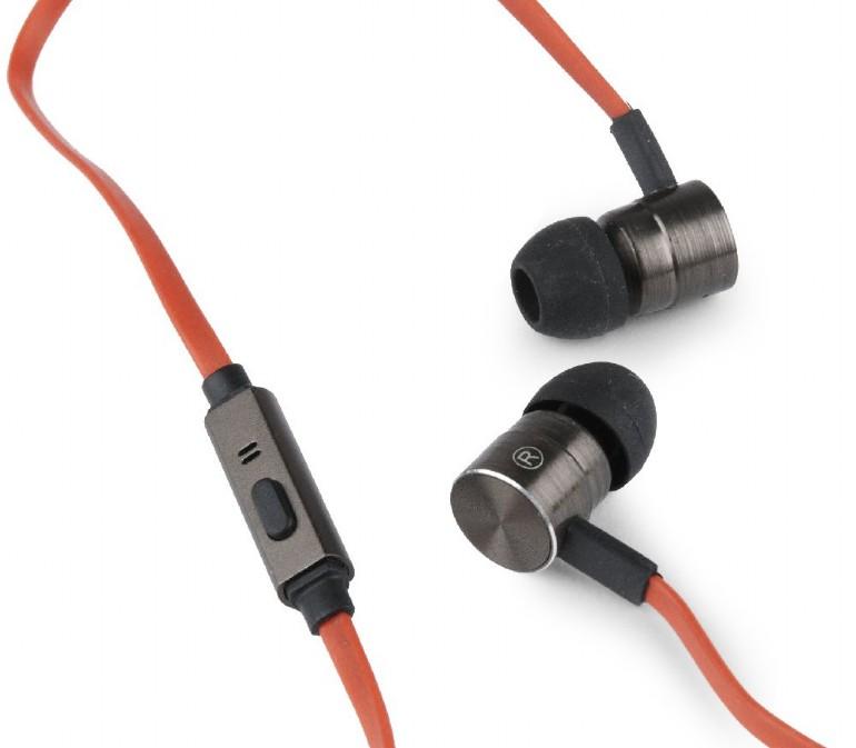 Gembird Sluchátka s mikrofonem, plochý kabel