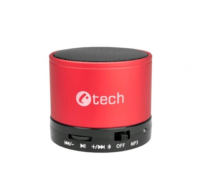 repro C-TECH SPK-04R, bluetooth, červené