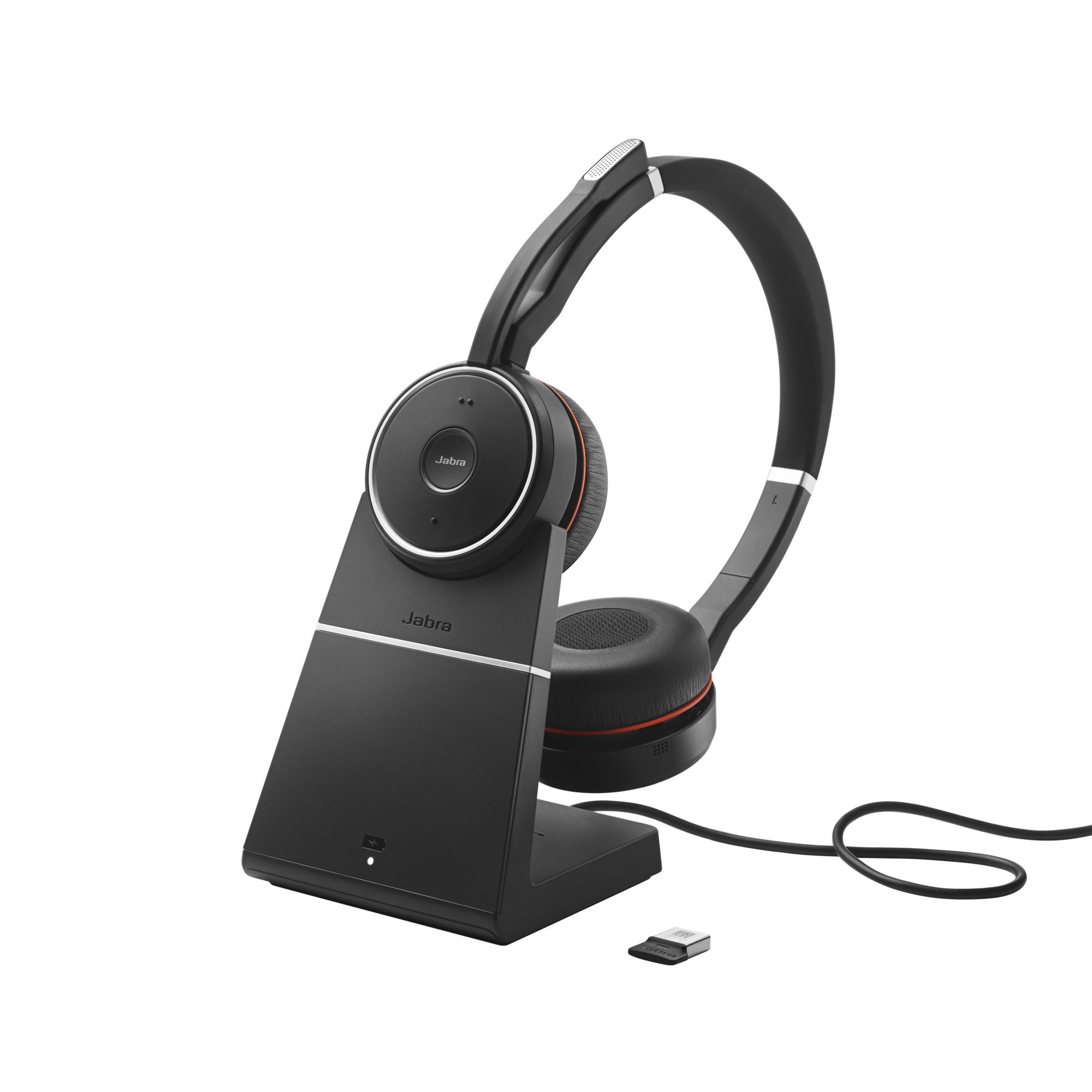 Jabra Evolve 75, Duo, USB-BT, MS, stojánek