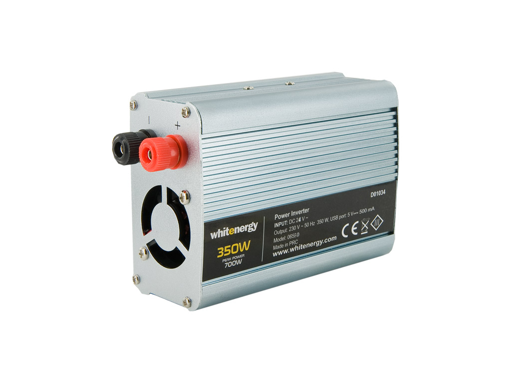 WE Měnič napětí DC/AC 24V / 230V, 350W, USB