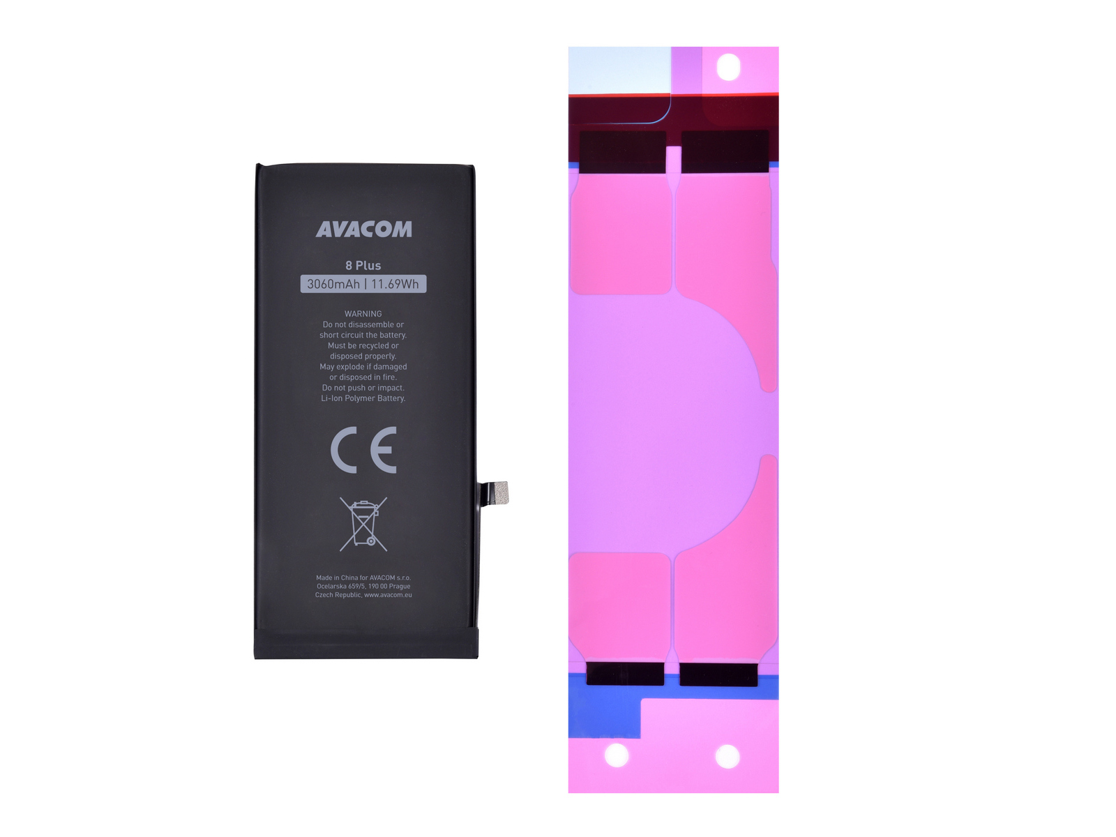 AVACOM baterie pro Apple iPhone 8 Plus - vysokokapacitní, Li-Ion 3,82V 3060mAh (náhrada 616-00367)