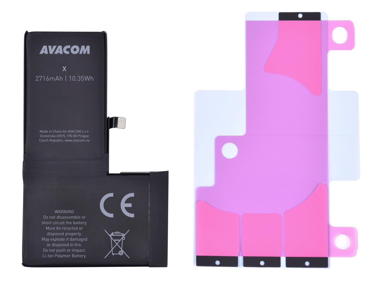 AVACOM baterie pro Apple iPhone X, Li-Ion 3,81V 2716mAh (náhrada 616-00346)