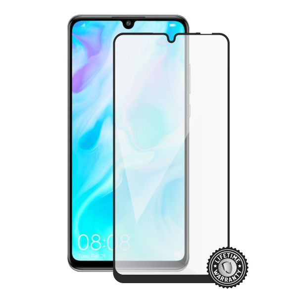 Screenshield HUAWEI P30 Lite Tempered Glass protection (full COVER black)