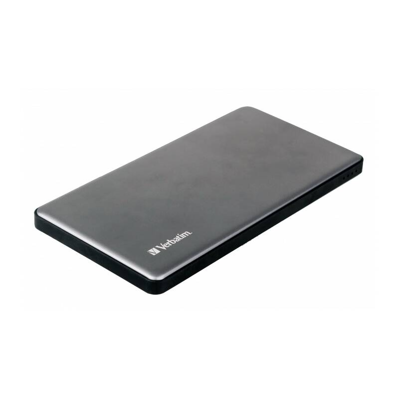 Verbatim Dual Powerbank 5000mAh, 2x USB-A, Metal Silver