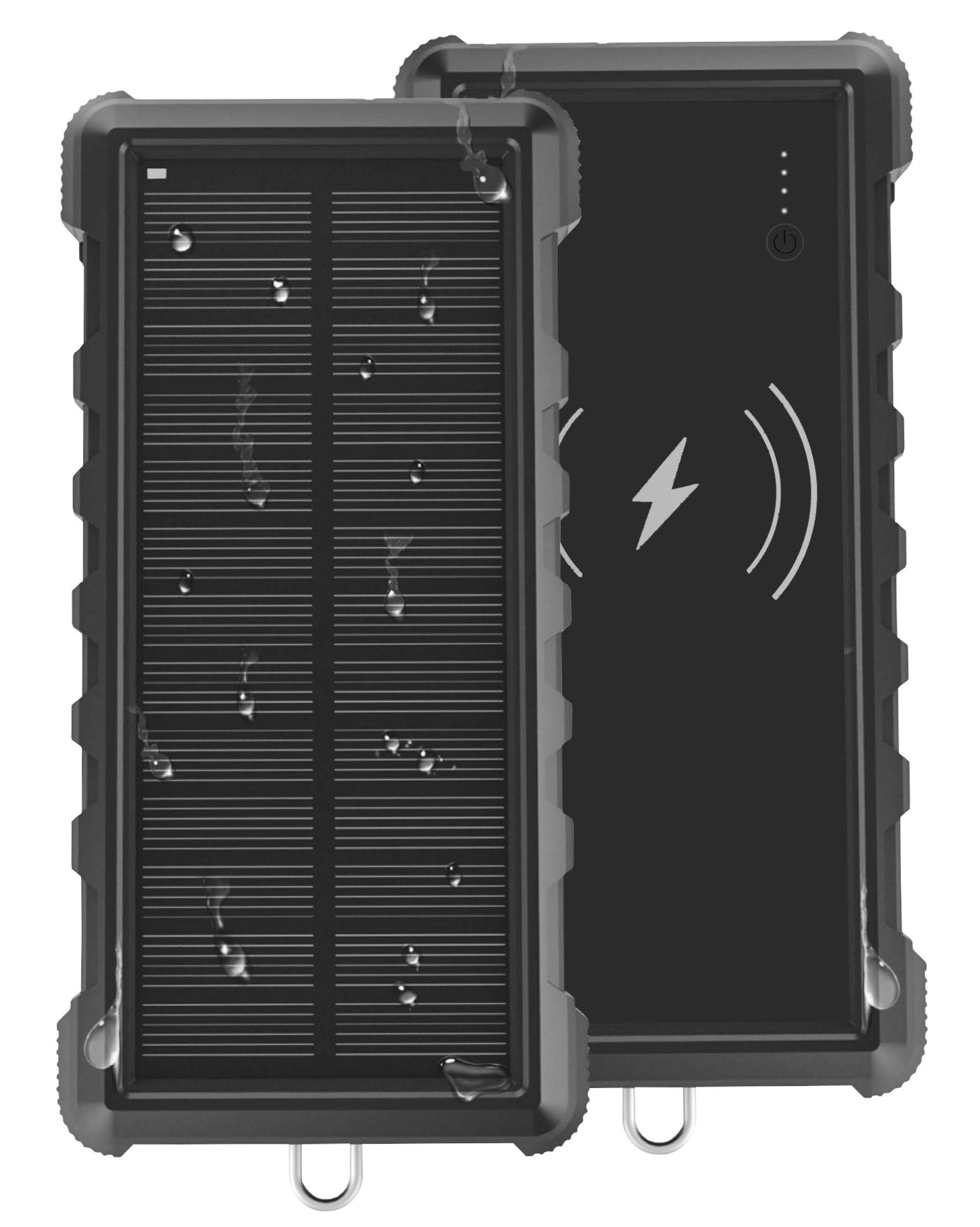 Solární powerbanka VIKING W24W 24000mAh, QC3.0, bezdrátové nabíjení