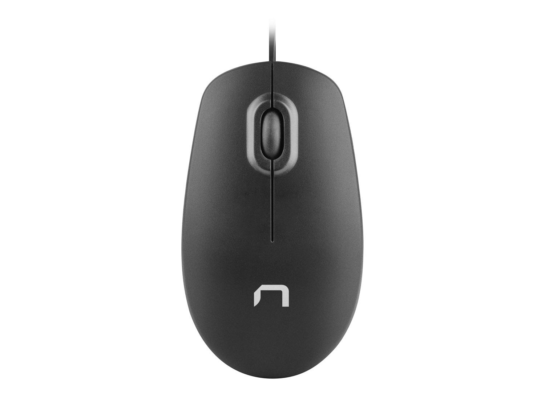 Optická myš Natec Magpie 1600 DPI, černá, 1,8m