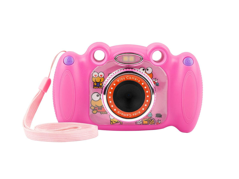 Digitální fotoaparát pro děti Ugo Froggy, růžový, 1,3mpx, video Full HD 1080 px, 2