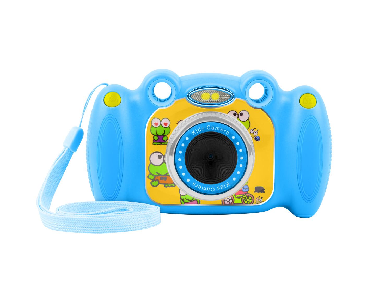 Digitální fotoaparát pro děti Ugo Froggy, modrý, 1,3mpx, video Full HD 1080px, 2