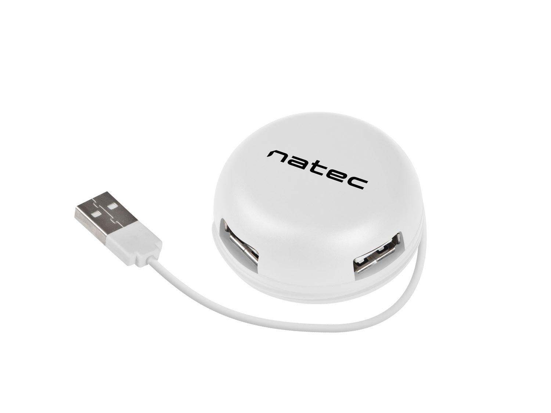 Natec BUMBLEBEE rozbočovač 3x USB 2.0 HUB bílý